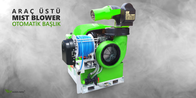 Araç üstü mist blower, mist blower makinesi, mist blower cihazı, 35 hp mist blower, 35 beygir mist blower, 18 hp mist blower, 18 beygir mist blower üretici imalatçı
